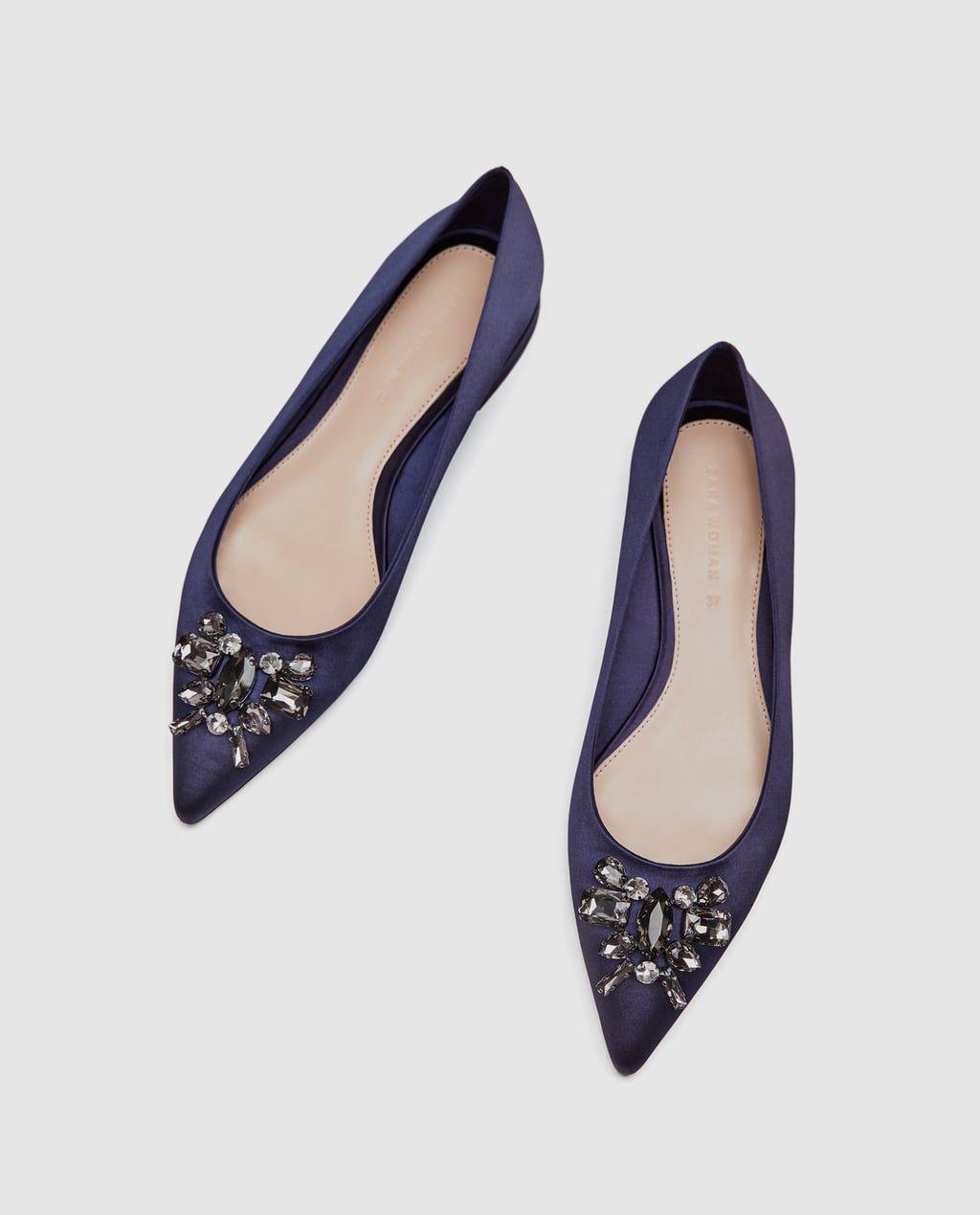 40. BALLERINA MIT BROSCHE von Zara in 2019 | Schuhe frauen