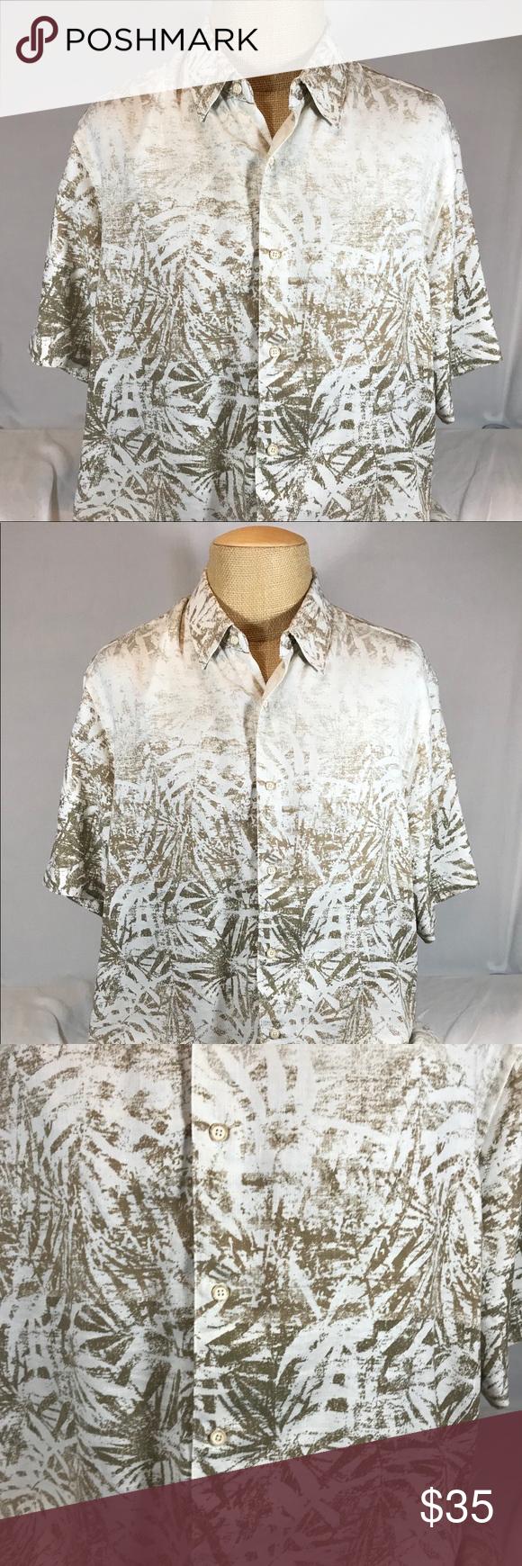 Tasso Elba Island Silk & Linen Hawaiian Shirt Tasso Elba