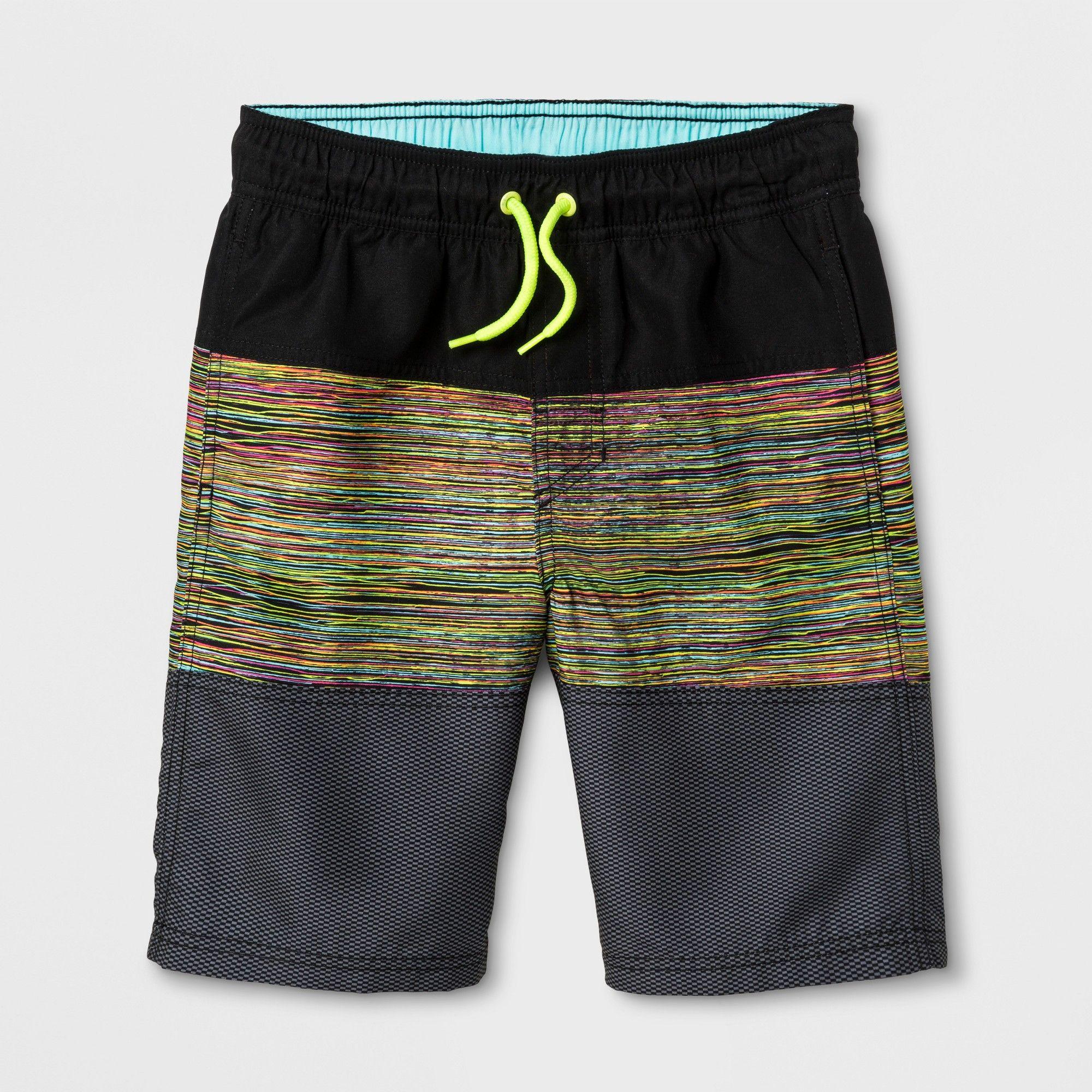 18c60b35d5835 Boys' 3 Tier Textured Swim Trunks - Cat & Jack XS, Black | Products ...