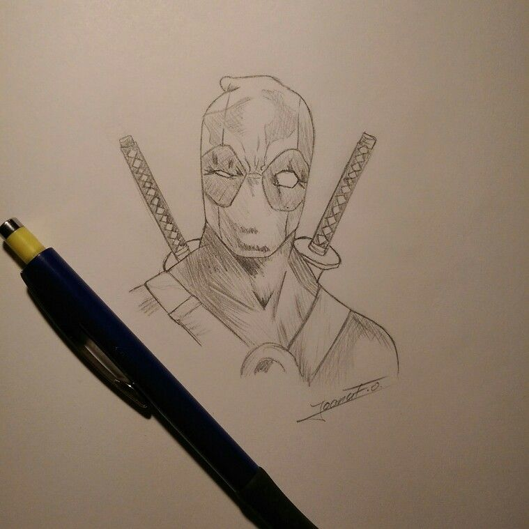 Sketch :3  #marvel #deadpool #art #drawing