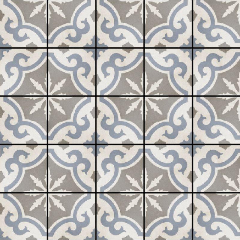 Fioranese Cementine Retro 2, 20x20cm Feinsteinzeug Zementfliesen - bilder fürs badezimmer