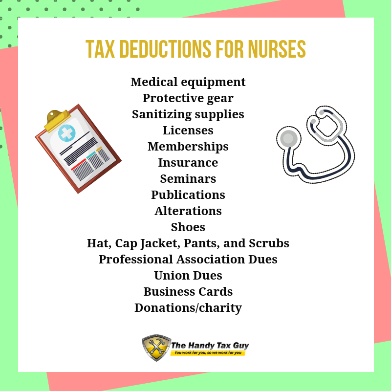 Overlooked Tax Deductions For Healthcare Workers Tax Deductions