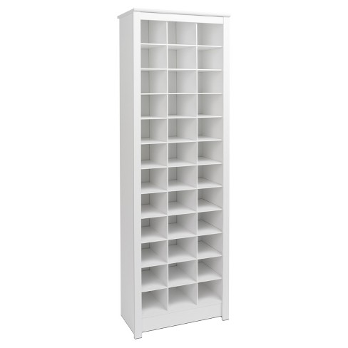 Freemont Shoe Storage White Prepac Space Saving Shoe Rack