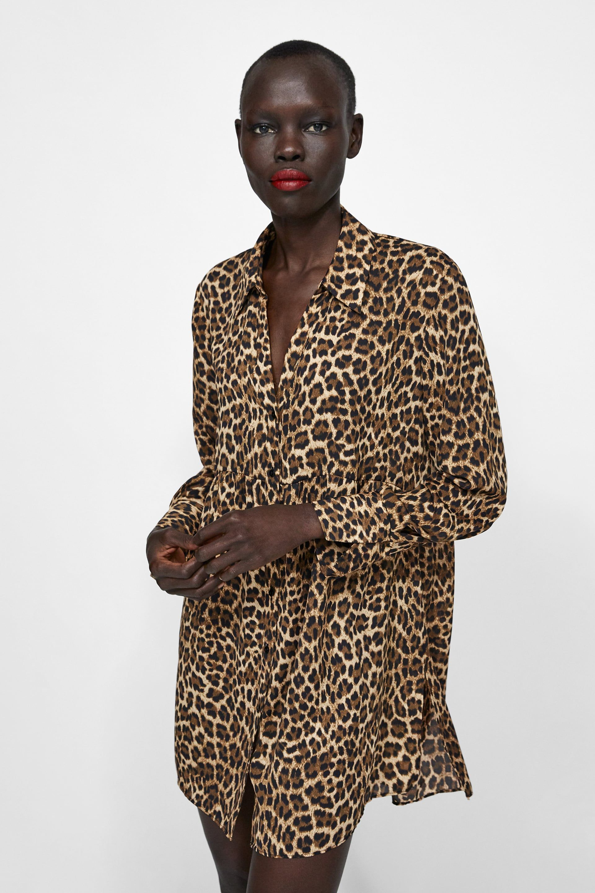 f73bd278a64490 Image 2 of ANIMAL PRINT OVERSIZED BLOUSE from Zara | Dressy ...