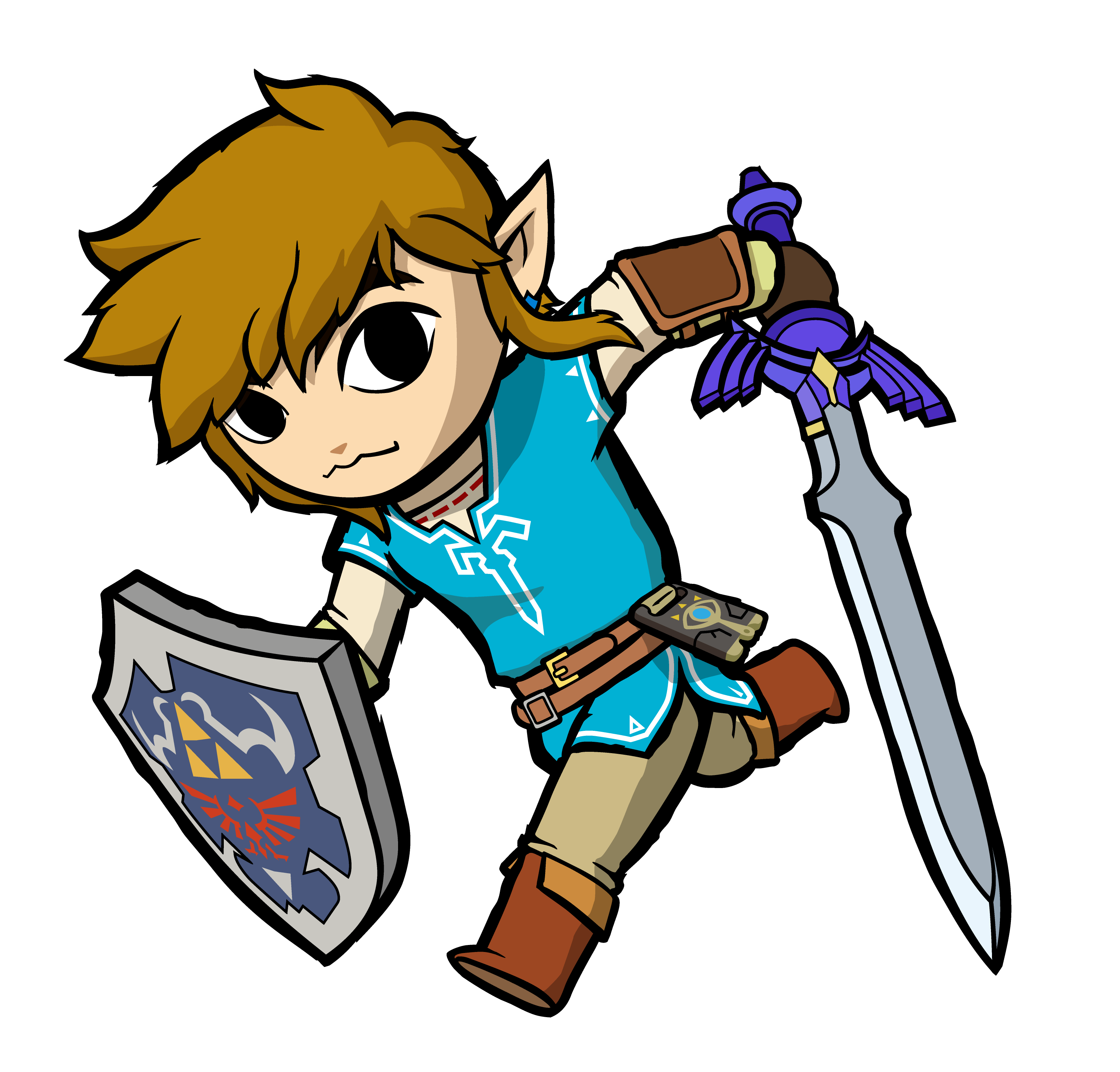 Toon Link In Breath Of The Wild Legend Of Zelda Tattoos Legend Of Zelda Breath Of The Wild
