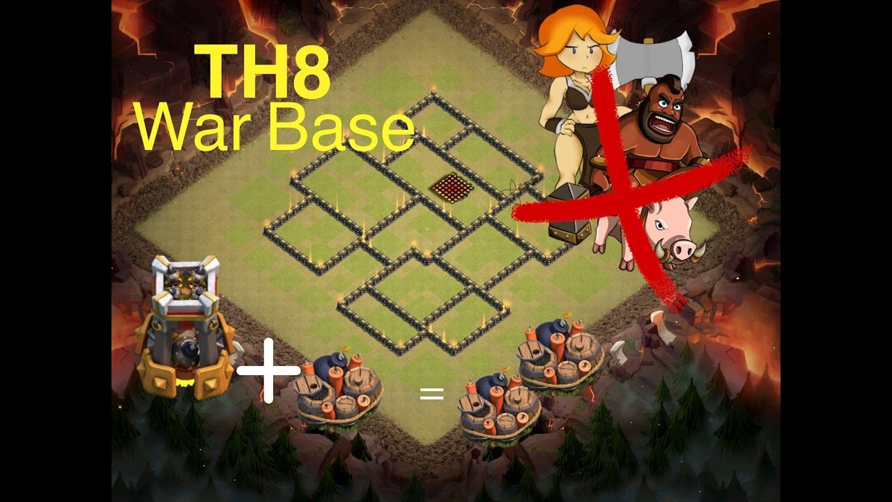 New Update Base War Town Hall 8 With Bomb Tower Real Working+GB