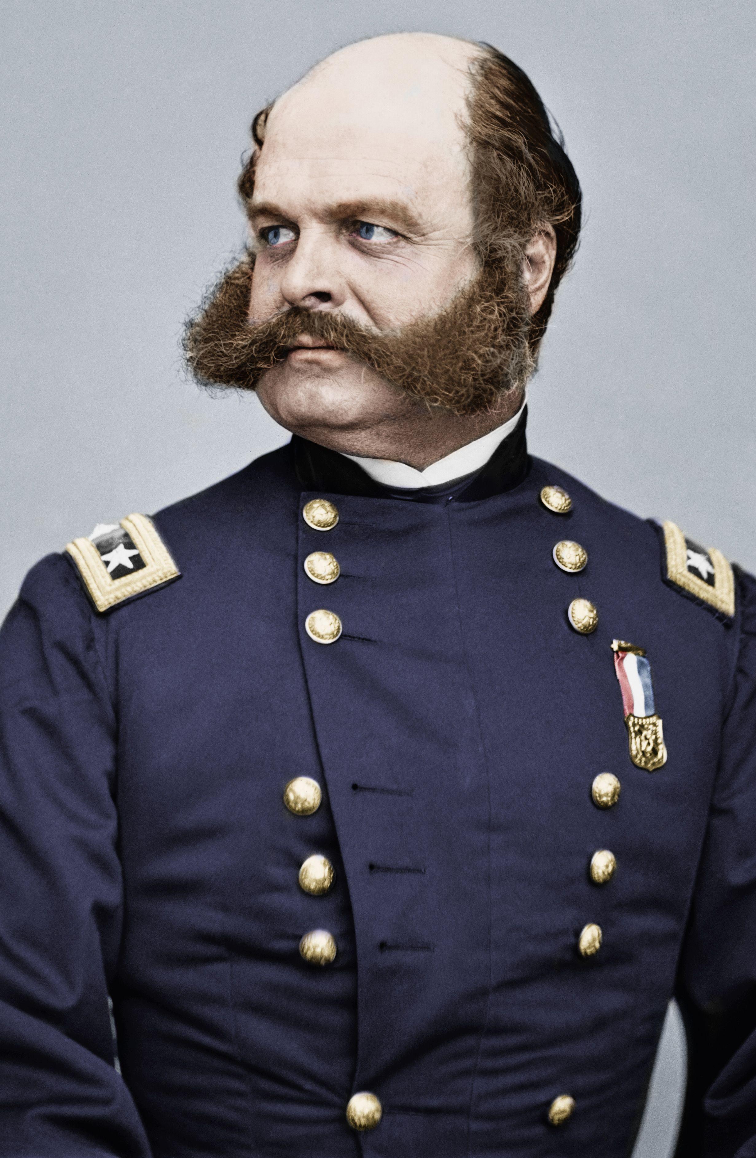 General Ambrose Burnside. (Colorized Photo). | Гражданская война в ...