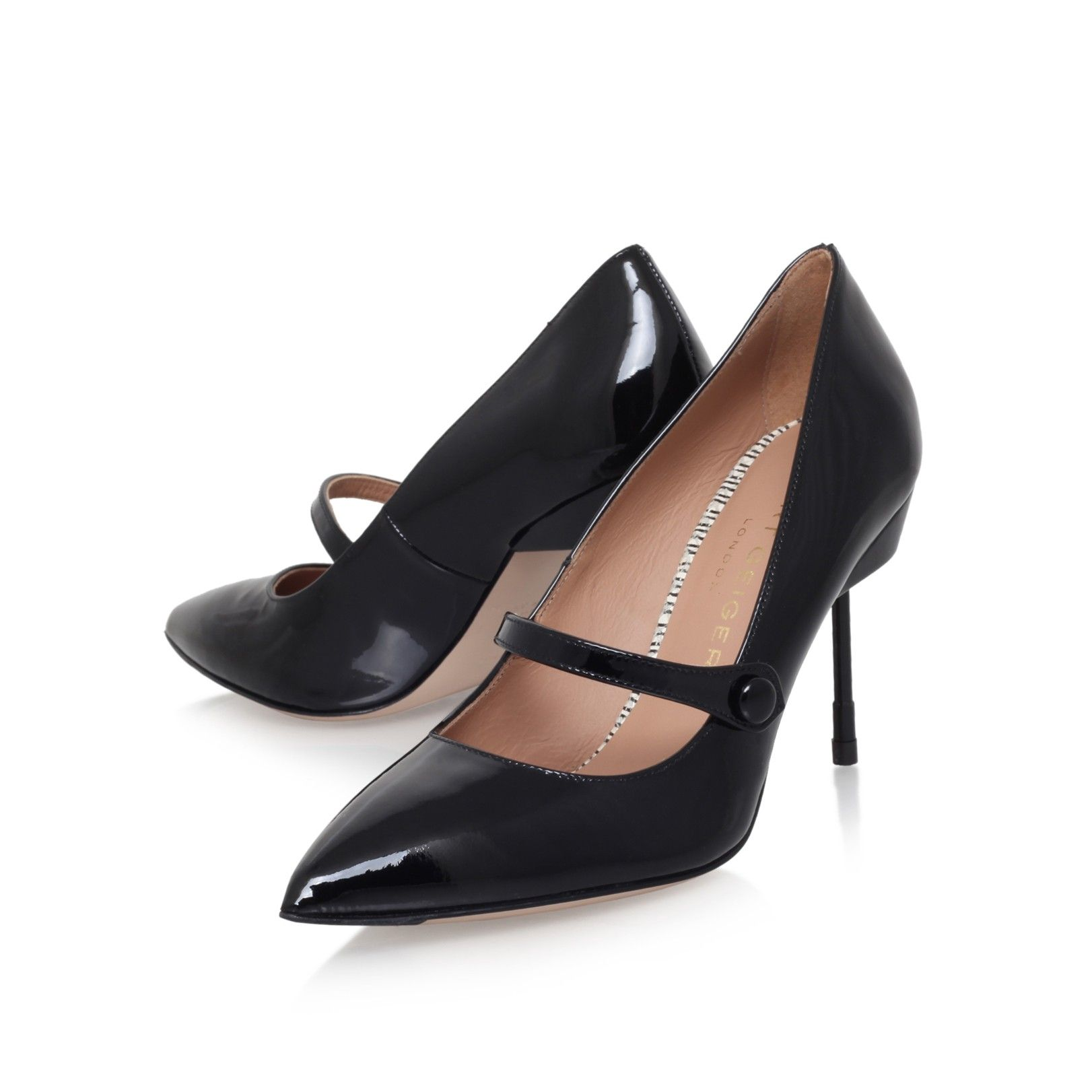 babington black mid heel court shoes from Kurt Geiger London