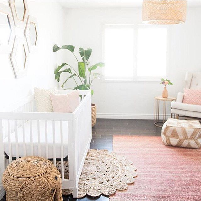 Simple Decorating Girl Nursery Design: Layered Rug Look FTW!
