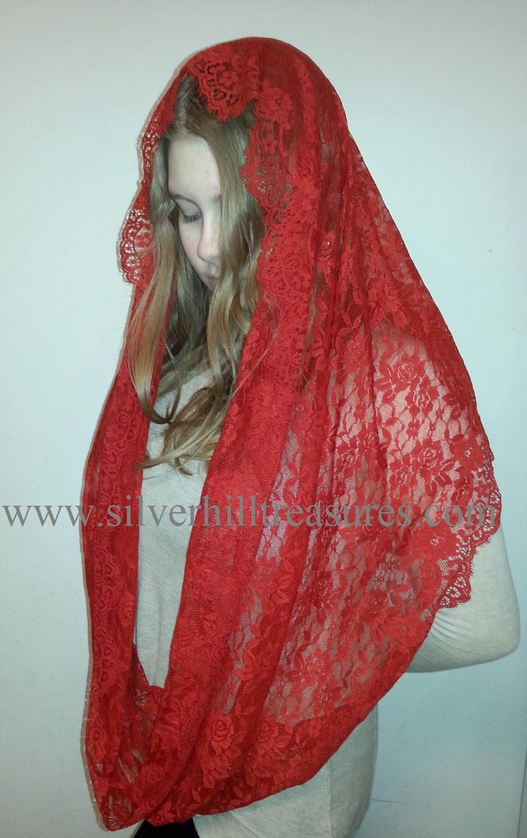 Spanish Lace Infinity Scarf/Mantilla - wear it as a scarf ...