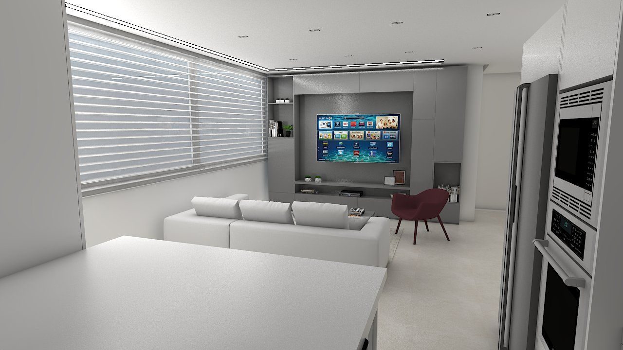 Dise o de un lindo y peque o apartamento donde tenemos for Diseno de un apartamento moderno