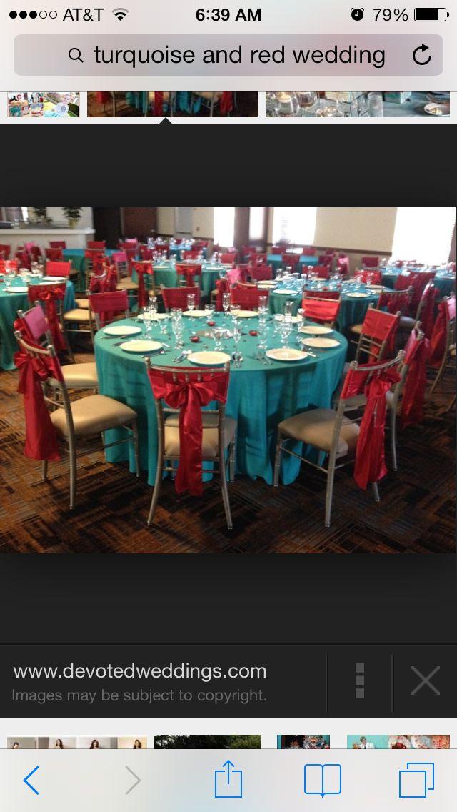 C Turquoise Wedding Decoraqua