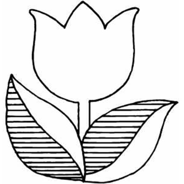 tulips, : a logo version of tulip coloring page | coloring