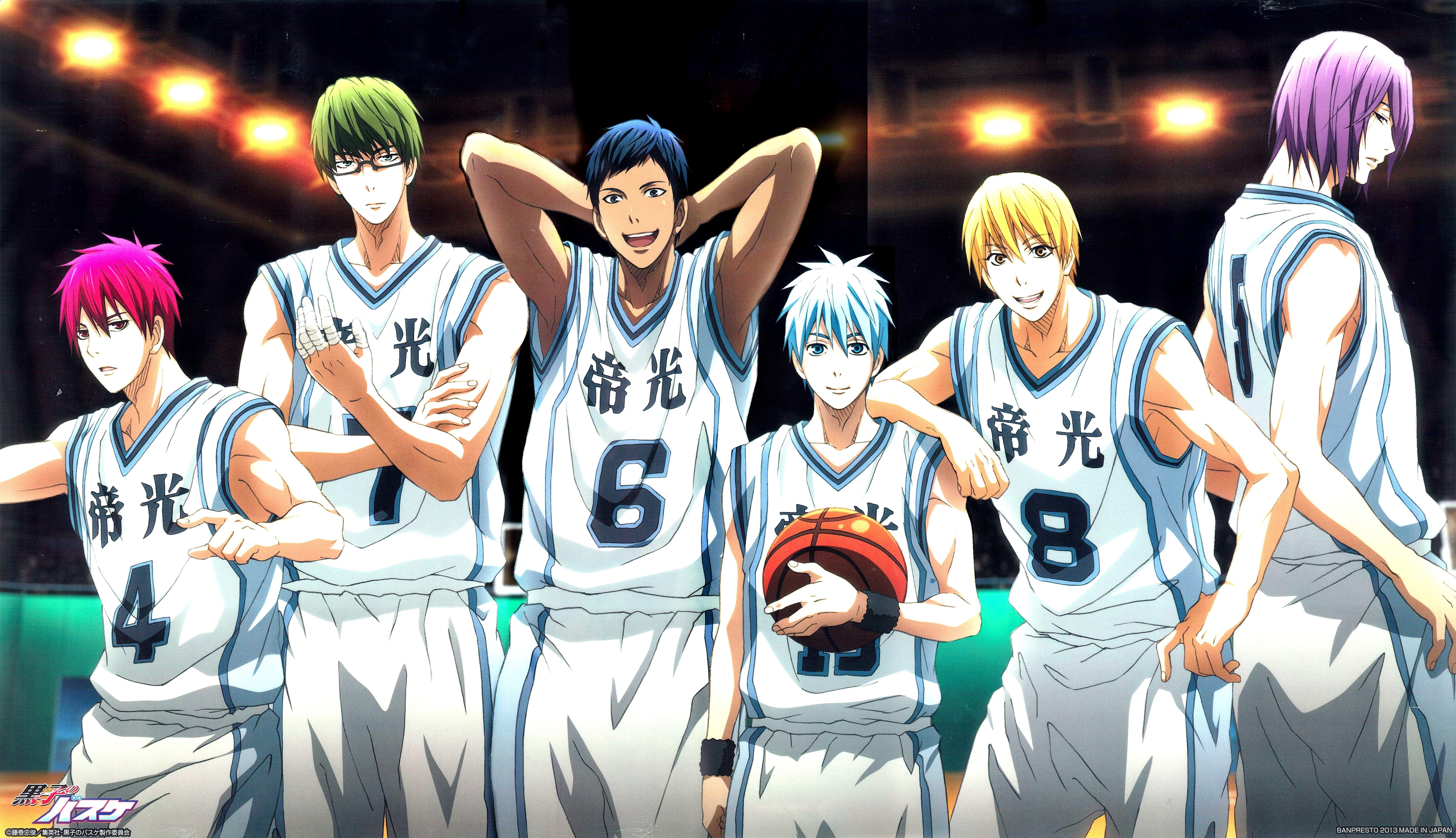Kuroko S Basketball Wallpaper Kuroko No Basket Team Akashi Seijuurou Aomine Daiki Kise Ryouta Kuroko Tetsuya Midorima Shintarou Murasakibara Atsushi 8k Anime