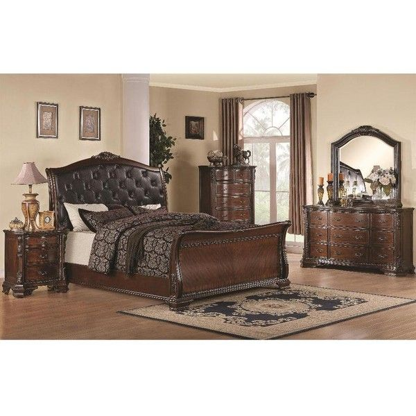 James 6Piece Bedroom Set $3730 ❤ Liked On Polyvore Featuring Fascinating Bedroom Sets With Storage Review