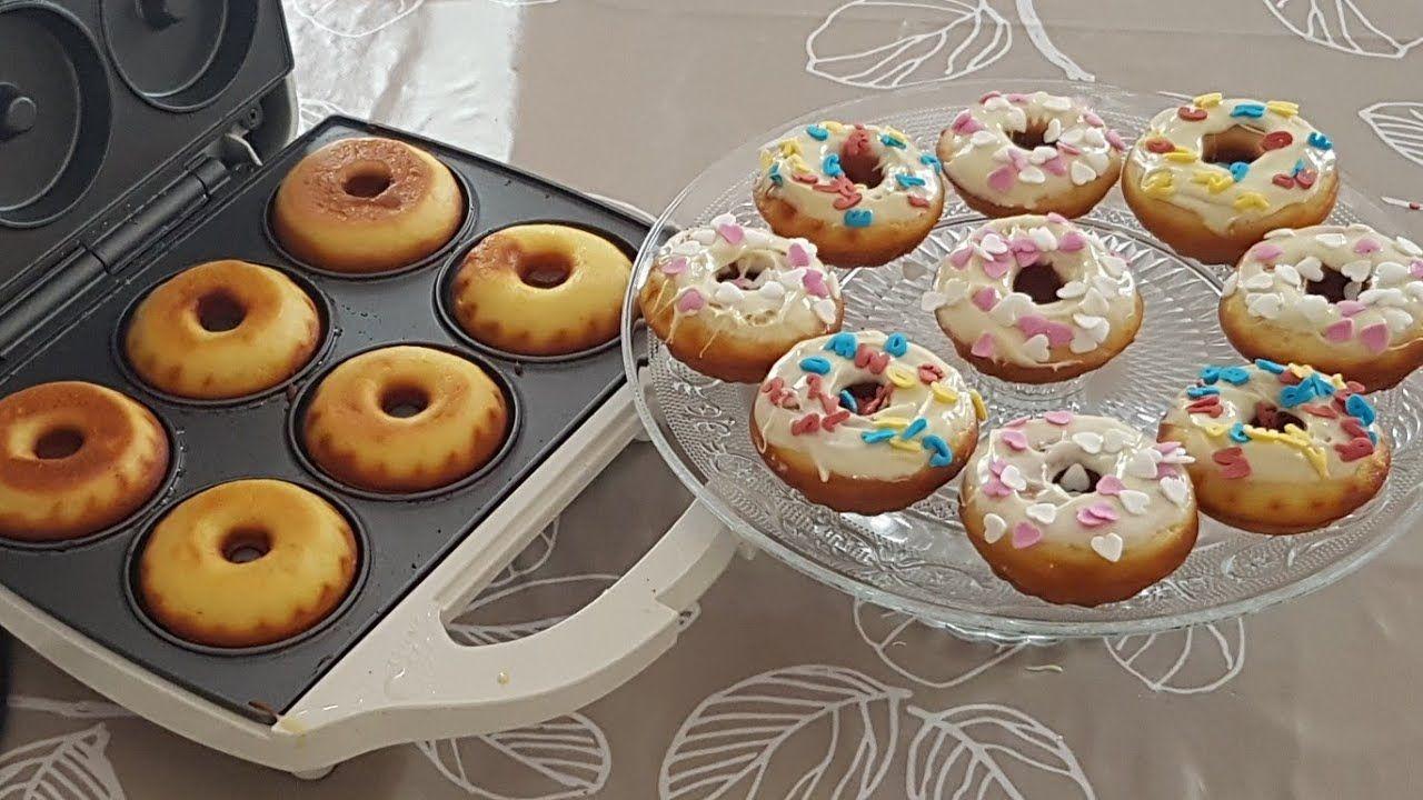 طريقة عمل الدونات في الآلة الكهربائية سهل وسريع التحضير روعة روعة روعة Youtube Desserts Cooking Food