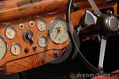 Vintage Car Dashboard Classic Car Interior Art Design