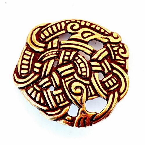 Viking fibula i urne stil bronse.  Også tilgjengelig i engros.  - Pera Peris Medieval Rekonstruksjon butikk