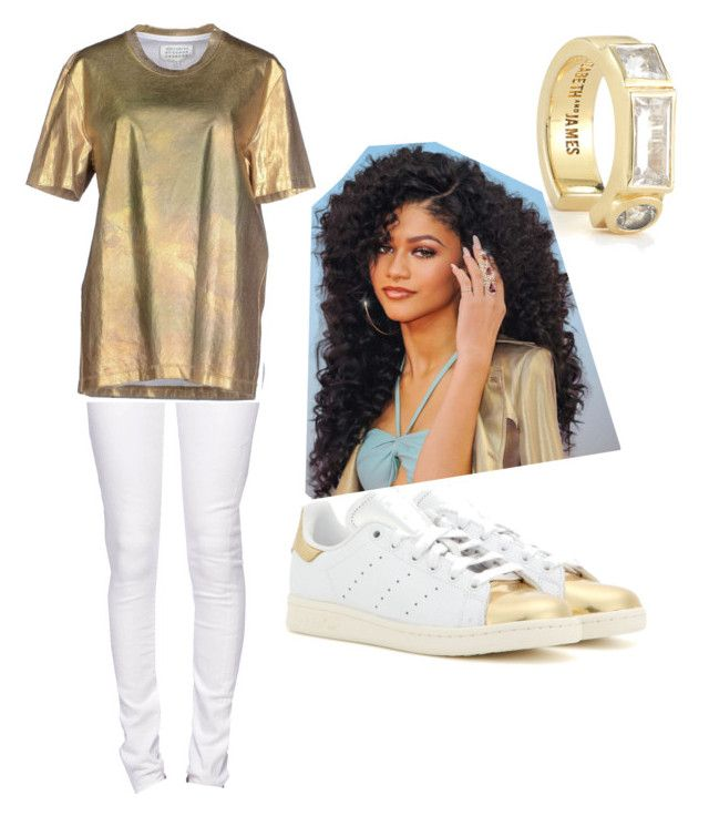 """""""Alexandria"""" by ne-janelle ❤ liked on Polyvore featuring Elizabeth and James, Citizen of Humanity, Maison Margiela and adidas"""