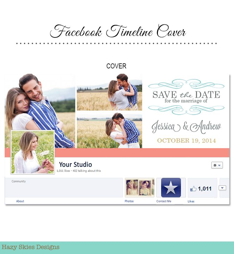 Save The Date Facebook Timeline Cover For Photographers  Studio