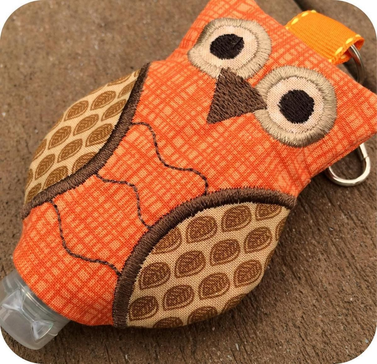 In The Hoop Owl Hand Sanitizer Holders Hand Sanitizer Holder