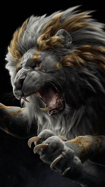 Golden Lion Lion Wallpaper Lion Live Wallpaper Angry Animals