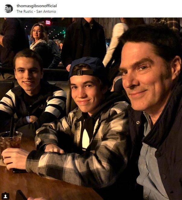 Tom with his sons, James and Travis  12-9-17 Courtesy of his