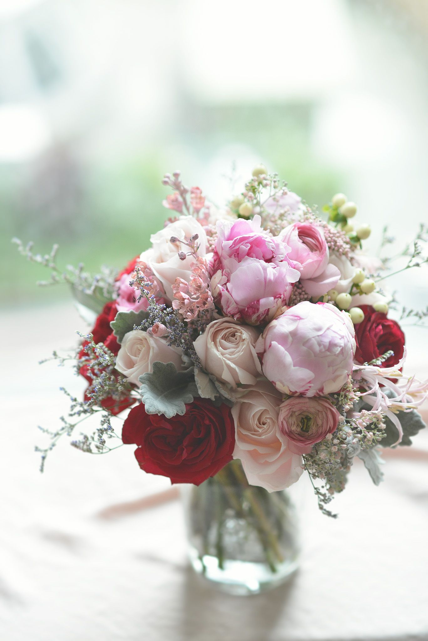 peony red garden rose and blush roses bouquet blush pink red bouquet facebook