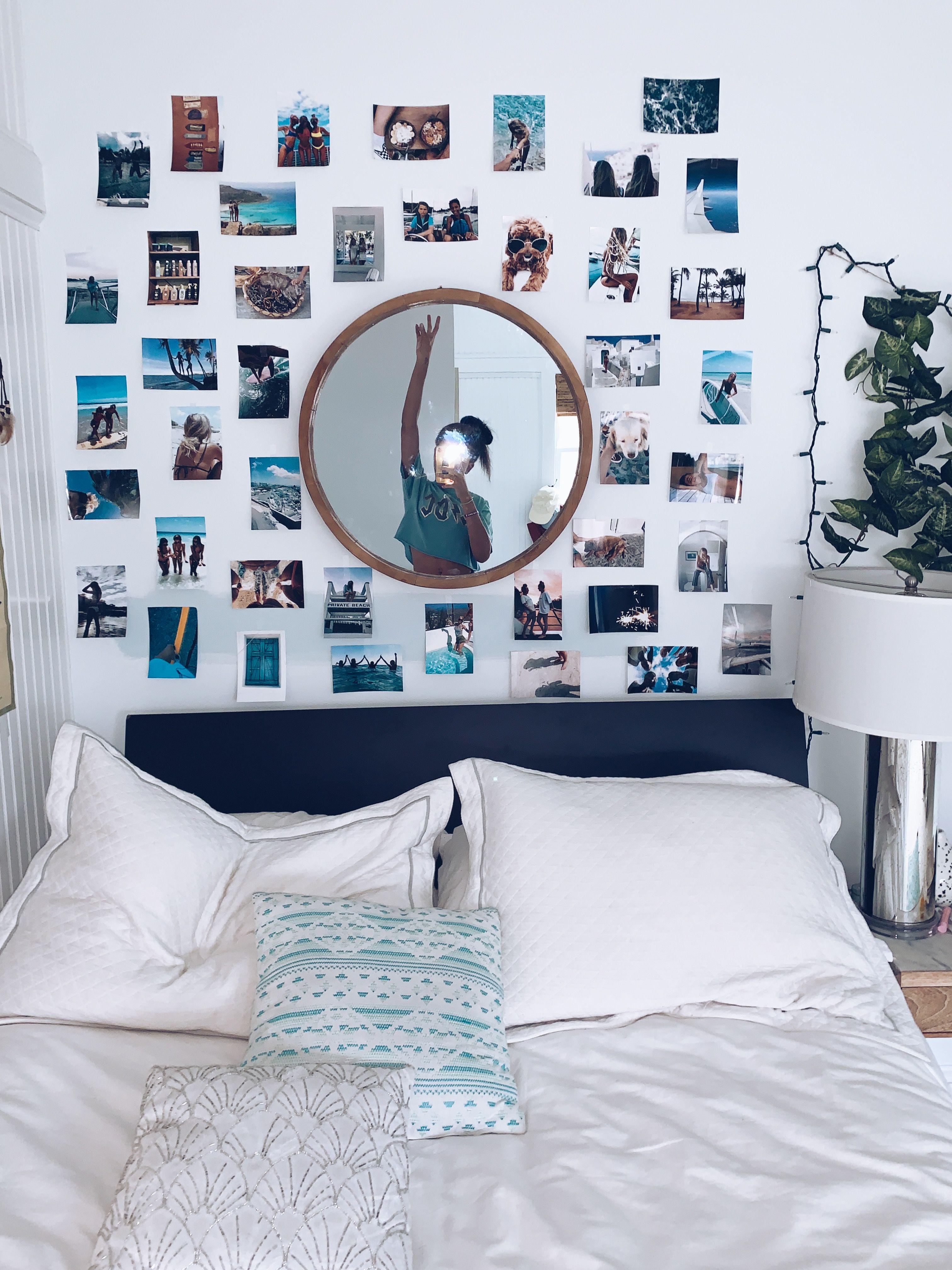 Pinterest Loveglo3 Photo Walls Bedroom Dorm Room Decor Redecorate Bedroom