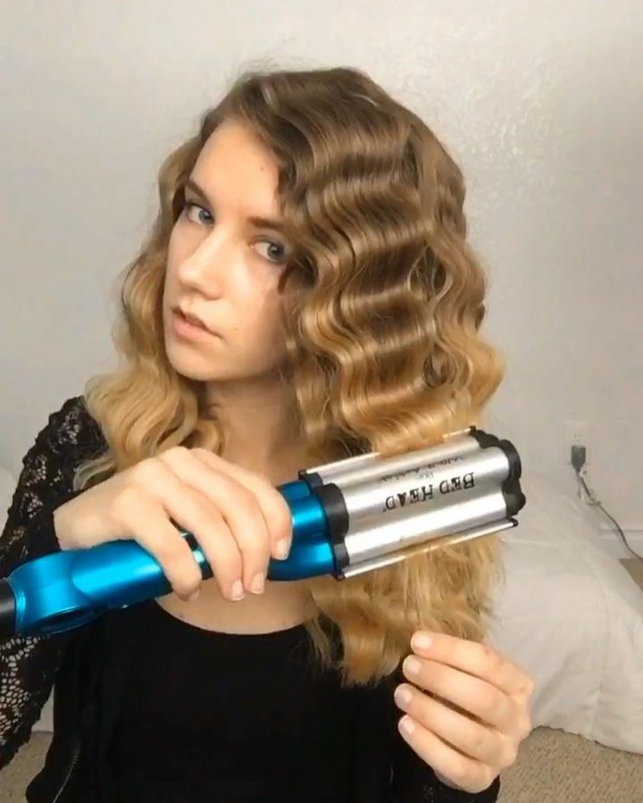 Mermaid Waves Love These Waves On My Short Hair With The Tigi Wave Artist Iron I Left The Iron On Eac Mermaid Hair Waves Hair Waver Iron Hair Waves