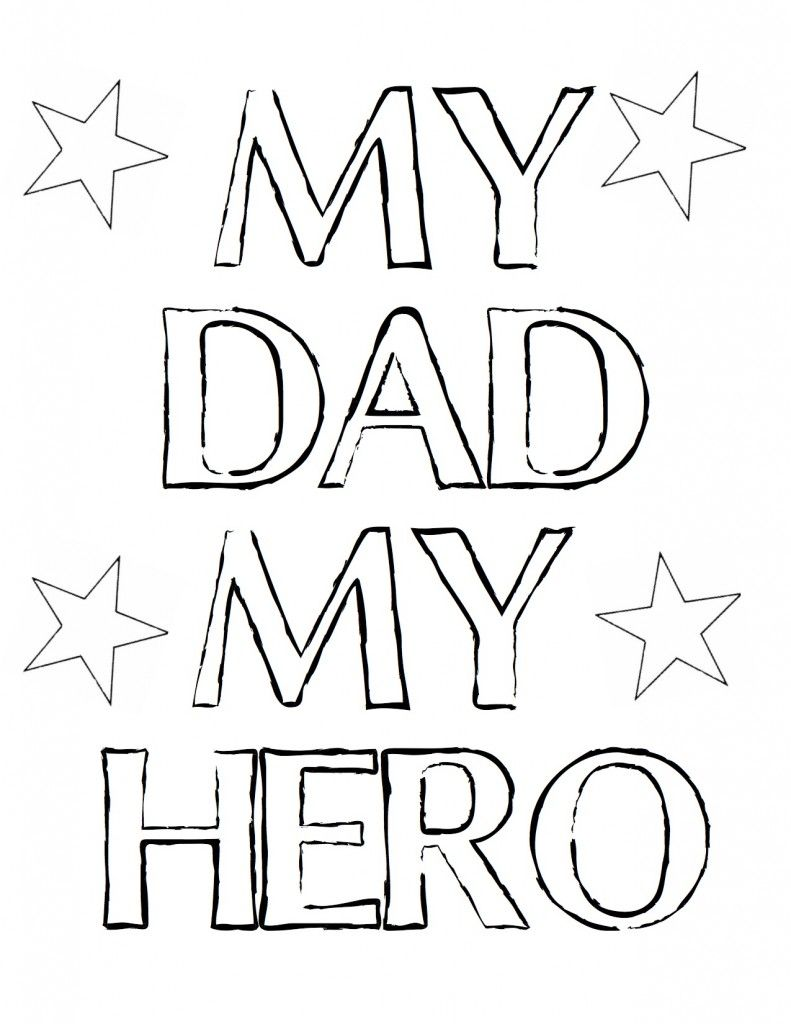 Childrens fathers day coloring pages - Free Fathers Day Printables And More