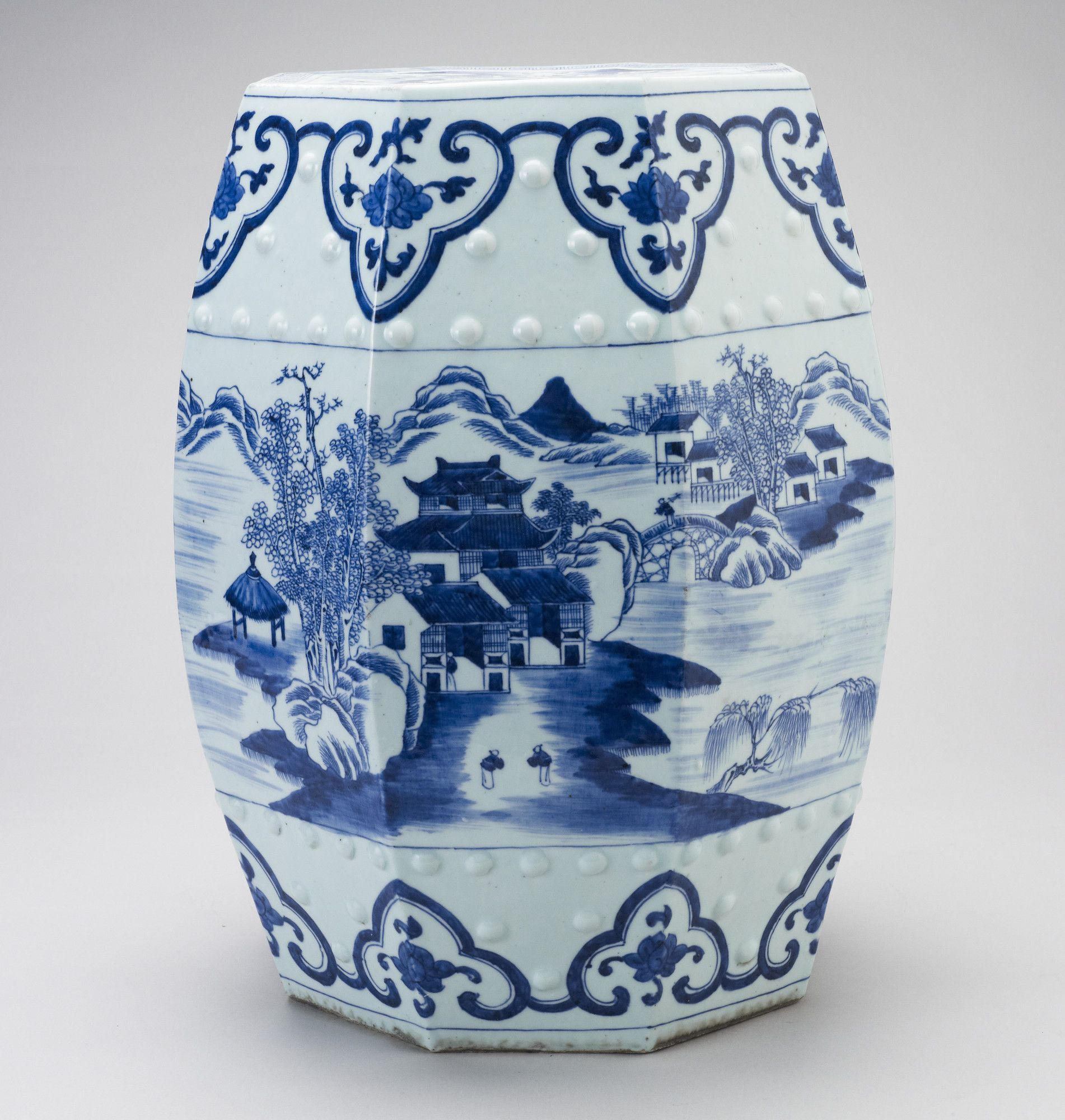 Beautiful Blue and White Porcelain Garden Stool
