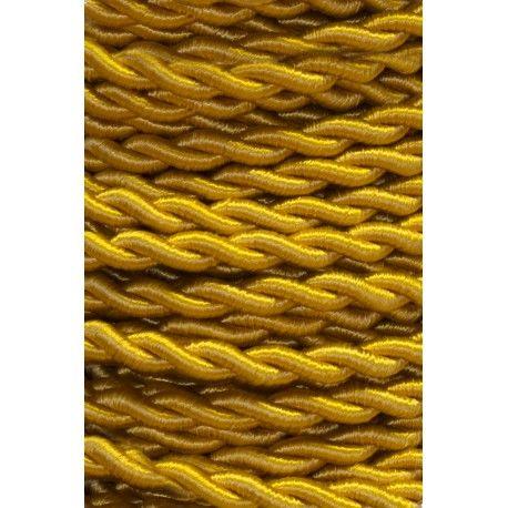 25 METROS CABLE TRENZADO SEDA 2x0,75 AMARILLO