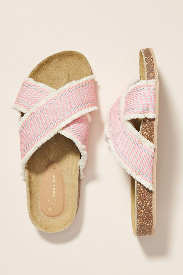 Callie Criss Cross Slide Sandals is part of Trending sandals, Trending womens shoes, Trending shoes, Womens fashion shoes, Women shoes, Shoes teen - Shop the Anthropologie Callie Criss Cross Slide Sandals at Anthropologie today  Read customer reviews, discover product details and more