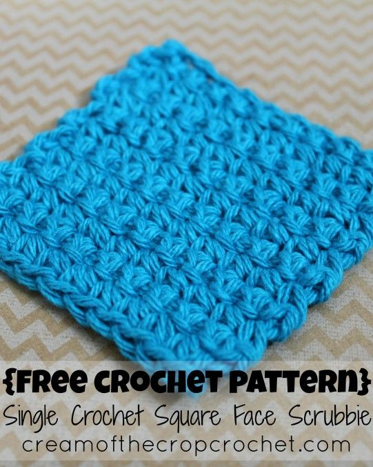 Cream Of The Crop Crochet Single Crochet Square Face Scrubbie