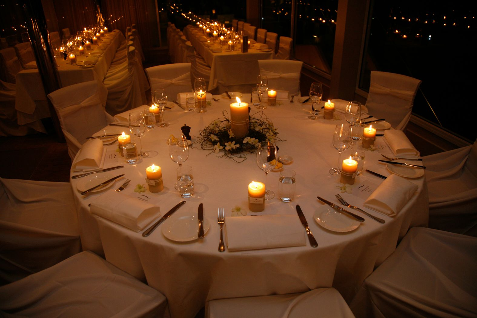 An Eco Wedding Lit By Honeycomb Pillars Table CentrepiecesWedding