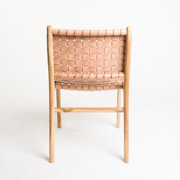 The Tanner Dining Chair Is A Classic Woven Leather On Blonde Teak Frame  They. Ingenious Idea Floral ...
