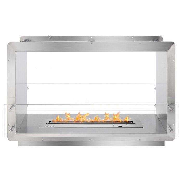 Ignis 39 5 Wide Double Sided Ethanol Burning Smart Firebox Wood