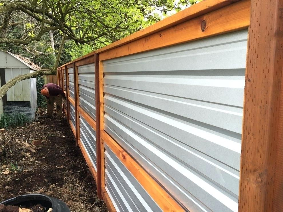 Corrugated Metal Fence Roof Fence Good Backyard Fences Corrugated Metal Fence Metal Fence