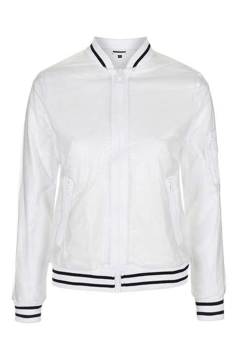 429d603ea See-Through Plastic Bomber Jacket | Gift ideas | Bomber Jacket ...