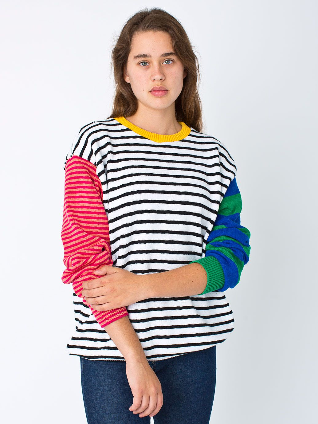 Unisex Recycled Cotton Mixed Stripe Pullover | Things to Wear ...