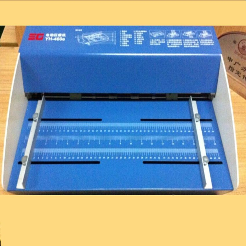 Blue New 18inch 460mm Electric Creaser Scorer Perforator 3 In1 Combo Paper Creasing Perforating 3 Function Machine Tool Organization Cool Things To Buy Paper