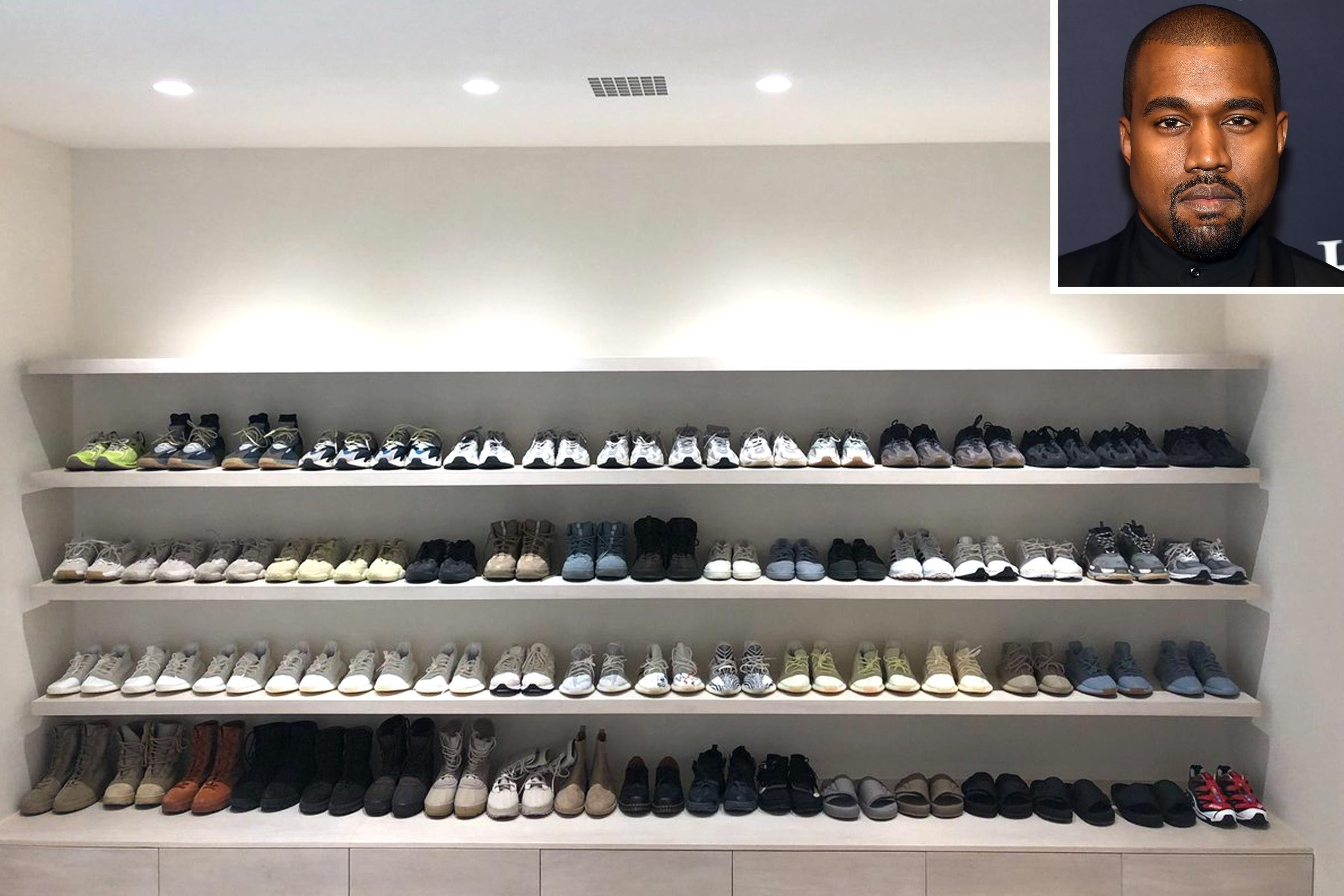 Kanye West Shares A Rare Look Inside His Epic Shoe Closet Kanye West Kim Kardashian Kanye