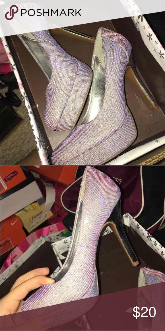 69795b706bca5 Sparkly heels Sparkle heels from jcpenny change colors depending on light jcpenney  Shoes Heels