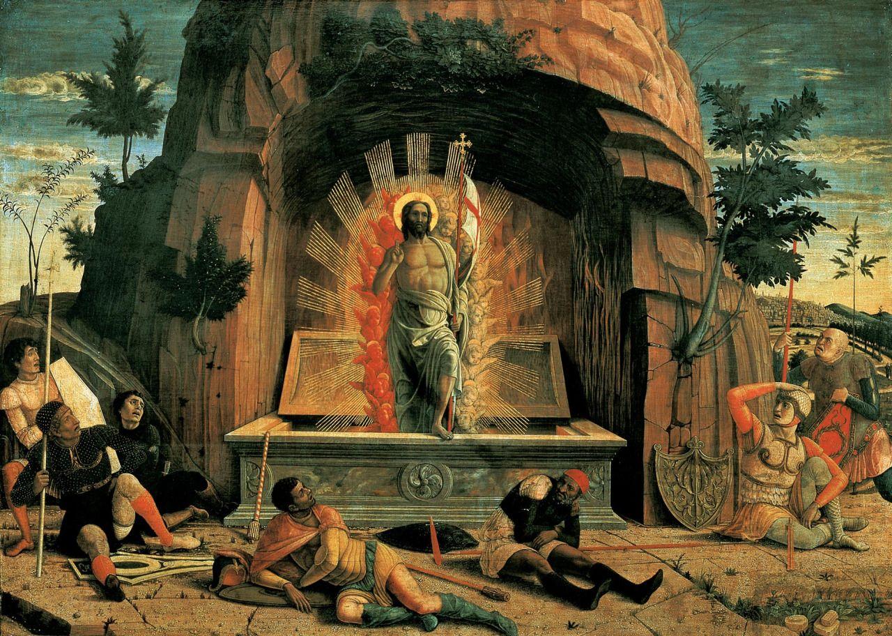 "artandopinion: ""Resurrection 1457 - 1459 Andrea Mantegna """