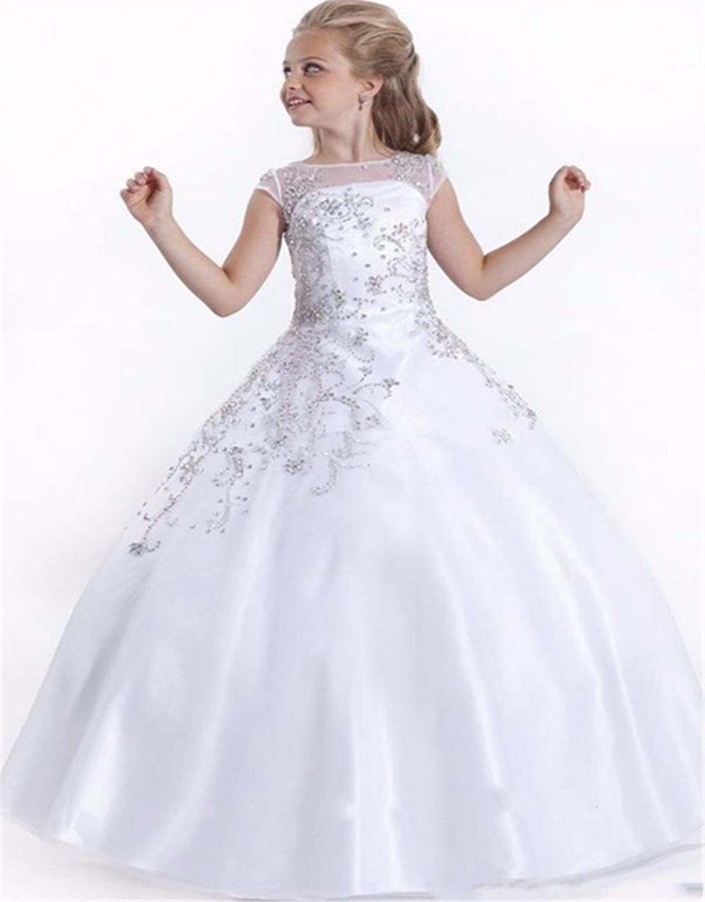 Cheap il pi alto ragazza di bellezza dress abiti da comunione che give your little girl the beaded accent capped sleeve soft tulle perfect angels pageant dress flower girl dresses in as a good gift and have her shine like dhlflorist Image collections