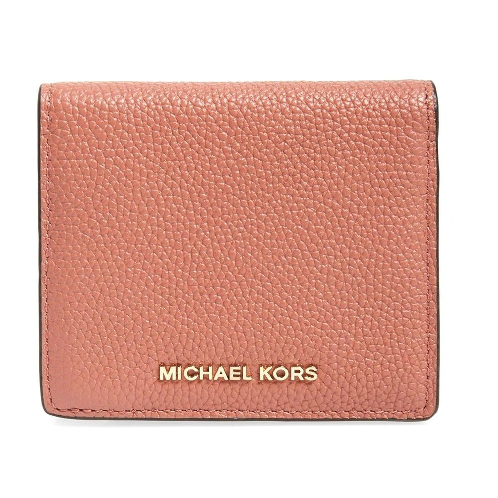 d1d6667fc14d77 NWT Authentic Michael Kors Mercer Carryall Card Case Wallet ~Antique Rose # MichaelKors #ClutchWallet
