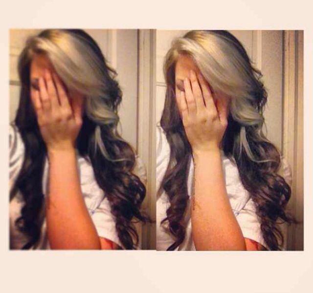 Brown Hair With Blonde Peekaboos Brown Blonde Hair Blonde