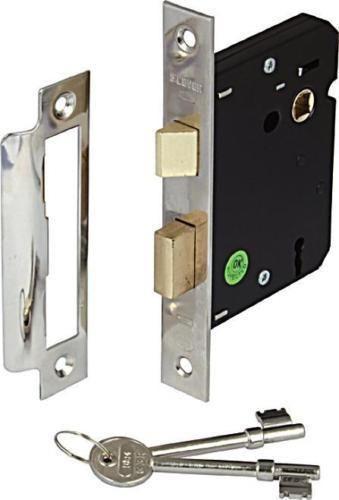 New 2 Lever Mortice Internal Sash Door Lock 2 5 Inch 63mm Chrome Plate Indoor Mortice Lock Chrome Plating Door Locks
