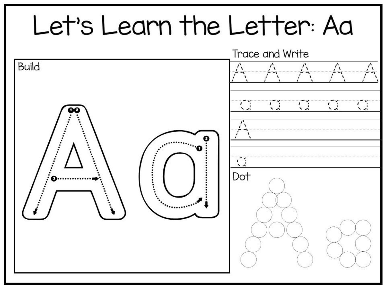 Let S Learn The Letters Build Trace And Write And Dot